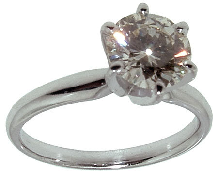 1.05 diamond ring PLATINUM 6 prong setting solitaire
