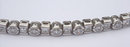 6.5 carats diamond tennis bracelet princess round bezel