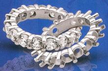 3 carats Diamond ETERNITY WEDDING BAND PLATINUM 3 carat