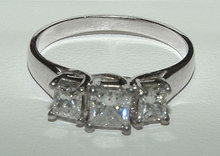 2.0 ct PRINCESS CUT diamond engagement ring platinum
