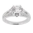 Diamonds 1.75 carat anniversary ring solitaire gold new