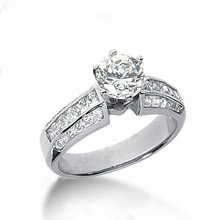 Diamonds engagement ring 2 carats diamonds ring gold