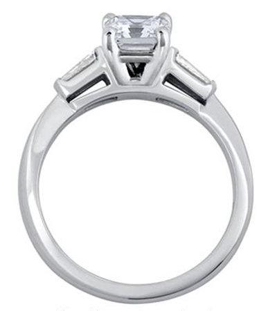 PLATINUM EMERALD CUT diamond engagement VVS1 D new