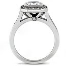 Princess cut diamond wedding ring 1.35 Ct. E VVS1 gold