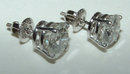 2 carat diamond stud post earrings F SI1 diamond studs