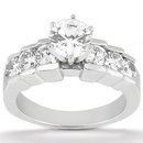 F VVS1 diamond wedding ring 2 Ct. engagement set gold