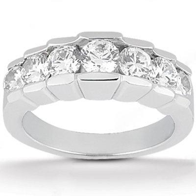 F VVS1 diamond wedding ring 2 Ct. engagement set gold
