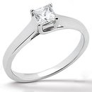 1.25 ct. DIAMOND ring SOLITAIRE princess cut F VS1