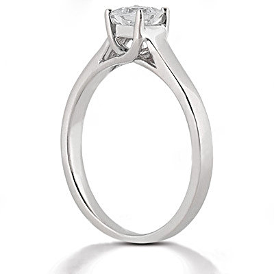 1.25 ct. DIAMOND ring SOLITAIRE princess cut F VS1