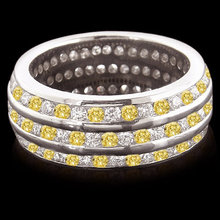 3 ct. yellow canary diamonds all around eternity band