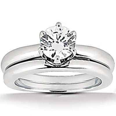 1.25 Ct. Diamonds solitaire wedding band set diamonds
