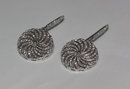 3.50 carat diamonds dangle earrings pair white gold new