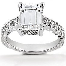 DIAMOND engagement ring 1.51 ct. diamonds white gold