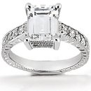 DIAMOND engagement ring 1.51 ct. diamonds white gold