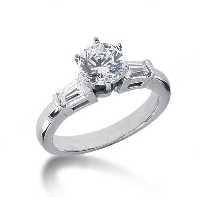 1.55 carat diamonds 3 stone engagement ring gold new