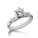 1.55 carat diamonds 3 stone engagement ring gold new