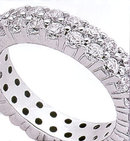 4.60 Carat diamond PLATINUM ETERNITY WEDDING BAND ring