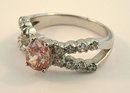 2.05 carats OVAL PINK DIAMOND ring solitaire fancy