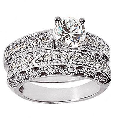 1.60 carat diamonds engagement ring gold band set new