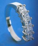 2.5 carat HIGH BRILLIANCE diamond ring princess cut