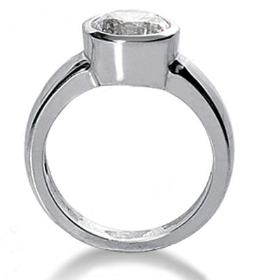 Solitaire engagement ring gold 1.50 ct. G SI1 diamond