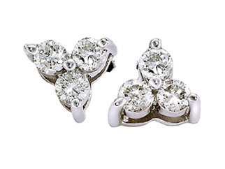 Diamonds 4.2 CARATS ROUND stud DIAMOND EARRING studs !