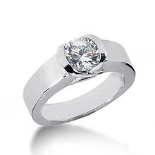 White gold diamond solitaire engagement ring 1.51 carat