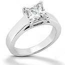 F VS1 Diamond princess cut ring 1.51 ct. gold jewelry