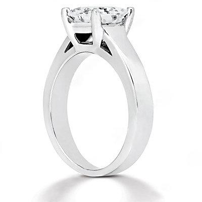 F VS1 Diamond princess cut ring 1.51 ct. gold jewelry