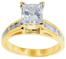 1.75 Ct. princess cut diamond ring yellow gold new ring
