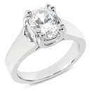 1.51 ct F VS1 oval diamond engagement ring solitaire