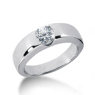 Solitaire engagement ring white gold jewelry 1.50 ct.