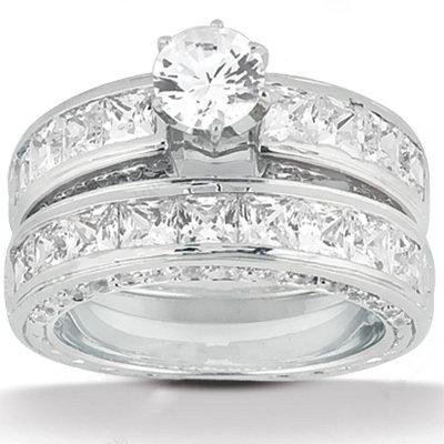 Diamond anniversary ring F VVS1 2.75 ct. diamonds ring