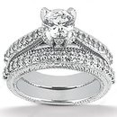 2.45 ct. Round cut diamond ring white gold wedding ring