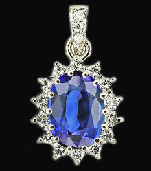 2 carat diamonds pendant necklace oval cut blue diamond