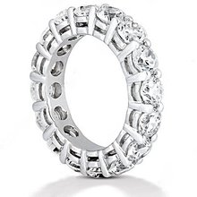 F VS1 Diamonds eternity wedding band jewelry Platinum