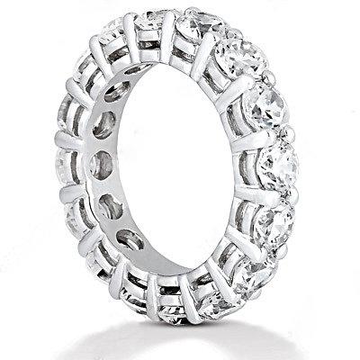 F VS1 Diamonds eternity wedding band jewelry Platinum