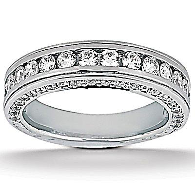 F VVS1 diamonds 2.25 ct. engagement band set gold ring