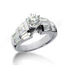 3 carat diamonds anniversary ring white gold men's