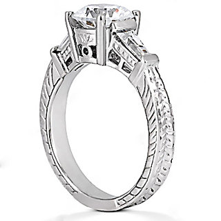 2.01 ct. WHITE GOLD diamond ANNIVERSARY ring F VS1 new