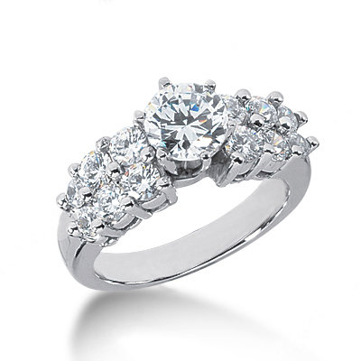 2.5 Carat diamonds ring F VVS1 diamond anniversary ring