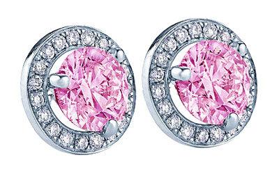3.5 carat pink diamond earrings stud earring micro pave