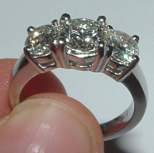 3 ct two tone gold DIAMOND engagement ring CUSTOMIZED