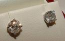 1.80 CARATS F VS1 diamonds platinum round earrings