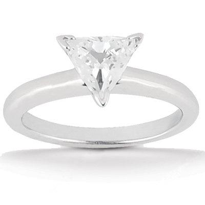 1.5 Carat diamond solitaire ring trillion cut engagemet