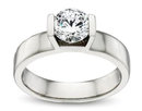 1.5 Carats diamond solitaire engagement ring white gold