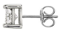 Single 1.5 ct. F VS1 diamond stud men earring gold new