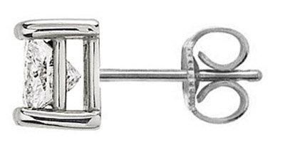 Single 1.5 ct. F VS1 diamond stud men earring gold new