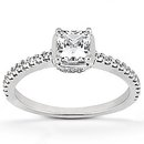 1.86 Carats diamonds & gold solitaire ring with accents