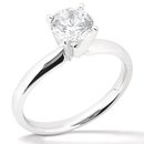 1.5 Ct. diamond solitaire F VS1 ring white gold jewelry